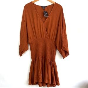 3/$20🌿 Forever 21 Contemporary Woven Rust Dress